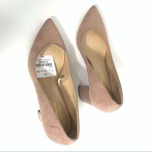 Liz Claiborne Haslett Pink Sz 8.5M Block Heel Shoe